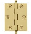 Baldwin<br />Square Corner Door Thickness .093 Single Hinge - 1025.030.I Polished Brass Door Hinge IN STOCK