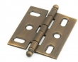 Schaub<br />1111B-ALB - Ball Tip Mortise Hinge, Antique Light Brass