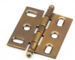 Schaub<br />1111B-AB - Ball Tip Mortise Hinge, Antique Brass