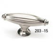 Schaub - Cabinet<br />203-15 - Satin Nickel Oval T-Knob, 2-5/8&quot;