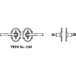 LaForge<br />2304 LF - TRIM NO. 2304 ROSETTE SET