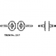 La Forge<br />2317 LF - TRIM NO. 2317 ROSETTE SET