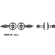 LaForge<br />2322 LF - TRIM NO. 2322 ROSETTE SET