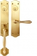 Bouvet<br />2504-16 - TRIM NO. 2504 MORTISE HANDLE SET - DOUBLE CYLINDER IN BRASS