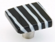 Schaub - Cabinet<br />34-BWS - Black &amp; White Striped 1-1/2&quot; Square Knob