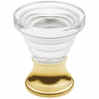 Baldwin<br />4354.030 IN STOCK - Crystal Cone Cabinet Knob Polished Brass