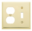 Baldwin<br />4762.CD - BEVELED OUTLET/SINGLE TOGGLE COMBO