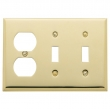 Baldwin<br />4763.030.CD - BEVELED OUTLET/DOUBLE TOGGLE COMBO