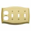 Baldwin<br />4783.030.CD - COLONIAL TRIPLE TOGGLE/OUTLET COMBO