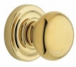 Baldwin<br />5015.030 IN STOCK Preconfigured - 5048 Rose - CLASSIC Knob Complete Polished Brass Set