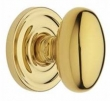 Baldwin<br />5025.003 IN STOCK Preconfigured - 5048 Rose -  EGG KNOB W/ 5048 ROSE-Lifetime Pol. Brass