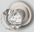 Baldwin<br />5080.150 PRECONFIGURED - FILMORE CRYSTAL KNOB WITH 5048 CLASSIC ROSE - Satin Nickel