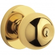 Baldwin<br />5215.003 - Contemporary knob w/ Contemporary rose - Keyed Entry - Lifetime Polished Brass