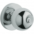Baldwin<br />5215.260 - Contemporary knob w/ Contemporary rose - Keyed Entry - Polished Chrome