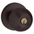 Baldwin<br />5215.402 - Contemporary knob w/ Contemporary rose - Keyed Entry - Distressed Oil Rubbed Bronze
