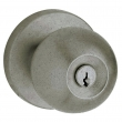 Baldwin<br />5215.452 - Contemporary knob w/ Contemporary rose - Keyed Entry - Distressed Antique Nickel