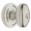 Baldwin<br />5225.055 - EGG KNOB W/ CLASSIC ROSE - KEYED ENTRY - LIFETIME POLISHED NICKEL