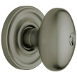 Baldwin<br />5225.151 - EGG KNOB W/ CLASSIC ROSE - KEYED ENTRY - ANTIQUE NICKEL