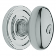 Baldwin<br />5225.260 - EGG KNOB W/ CLASSIC ROSE - KEYED ENTRY - POLISHED CHROME