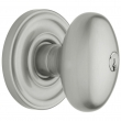 Baldwin<br />5225.264 - EGG KNOB W/ CLASSIC ROSE - KEYED ENTRY - SATIN CHROME