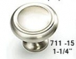 Schaub - Cabinet<br />711-15 - 1-1/4&quot; Satin Nickel Knob