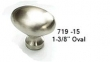 Schaub<br />719-Select Finish - 1-3/8&quot; Oval Knob - Select Finish