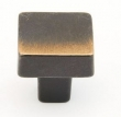 Schaub<br />789-AZ - Square Knob Antique Bronze 1 1/4&quot;