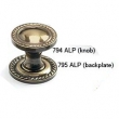 Schaub<br />794-ALP - 1-3/8&quot; Knob, Antique Light Polish