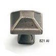Schaub - Cabinet<br />821-AI - 1-5/16&quot; Square Knob, Antique Iron