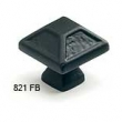 Schaub<br />821-FB - 1-5/16&quot; Square Knob, Flat Black