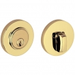 Baldwin<br />8244.031 - CONTEMPORARY DEADBOLT FOR 2 1/8&quot; DOOR PREP - NON-LACQUERED BRASS