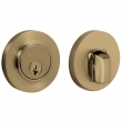 Baldwin<br />8244.050 - CONTEMPORARY DEADBOLT FOR 2 1/8&quot; DOOR PREP - SATIN BRASS AND BLACK