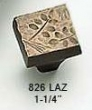 Schaub<br />826-LAZ - Willow Cast Bronze 826-LAZ Knob - Light Antique Bronze 1/4&quot;