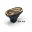 Schaub - Cabinet<br />831-ALB - 1-3/4&quot; Solid Brass Oval Knob, Antique Light Brass