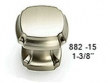 Schaub - Cabinet<br />882-15 - Empire Design 1 3/8&quot; Square Knob, Satin Nickel