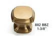 Schaub<br />882-BBZ - Empire Design 1 3/8&quot; Square Knob, Brushed Bronze