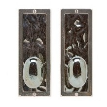 "3"" x 8"" Designer Textures Bronze Escutcheons Passage & Privacy Sets"