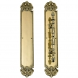 Brass Accents<br />A04-P3221 - Fluer De Lis Pull and Plate 3&quot; x 18&quot;