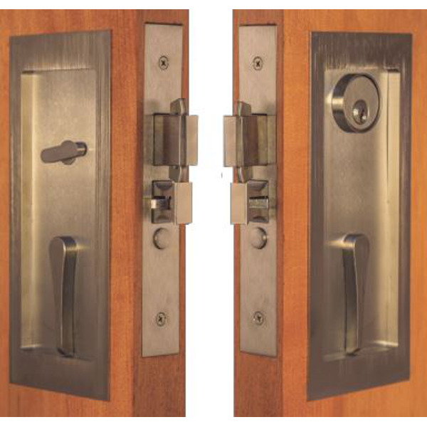 Self-Latching Pocket Door Locksets with Emergency Egress <br> Accurate