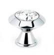 Alno<br />C214-CLR/PC - 1 1/4&quot; Art Deco Crystal Knob