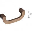 Ashley Norton<br />3422.4 3/8 - Solid Bronze Arc Offset Pull 4 3/8&quot; Overall Length
