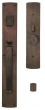 Ashley Norton<br />CVLGL.10 - Curved Suite 24&quot; x 3 1/2&quot; Exterior Escutcheon - Grip x Lever Mortise Entryset