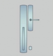 Ashley Norton<br />CVLGL.42 - Curved Suite 24&quot; x 3 1/2&quot; Exterior Escutcheon - Grip x Lever FULL DUMMY