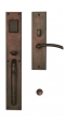Ashley Norton<br />MDSGL.10 - Urban Suite 18 1/8&quot; x 3&quot; Exterior Escutcheon - Grip x Lever Mortise Entryset