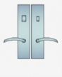 Ashley Norton<br />ME.26 - Urban Suite 10&quot; x 2 1/2&quot; Escutcheons - Tubular Privacy Bolt