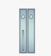 Ashley Norton<br />SQ.GE.18.52 - Rectangular Suite 18 1/8&quot; x 3&quot; Pull x Push Double Cylinder Deadbolt Entryset