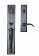 Ashley Norton<br />SQTUB.50 - Rectangular Suite 18 1/8&quot; x 3&quot; Exterior Escutcheon - Grip x Lever Tubular Entry