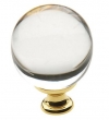Baldwin<br />4302.030 IN STOCK  - Crystal Knob Polished Brass
