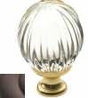 Baldwin<br />4304.112 IN STOCK - Crystal Knob Venetian Bronze