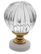 Baldwin<br />4305.030 IN STOCK  - Crystal Knob Polished Brass